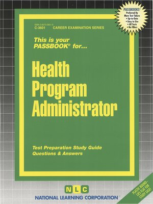 cover image of Health Program Administrator