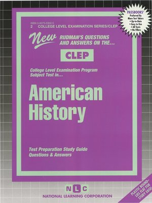 cover image of CLEP American History