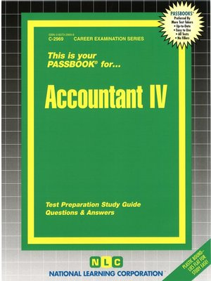 cover image of Accountant IV