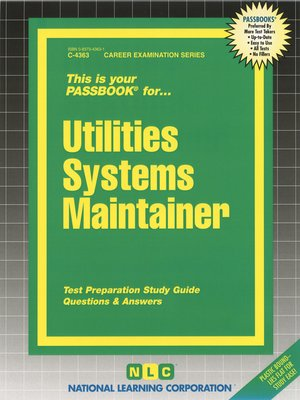 cover image of Utilities Systems Maintainer