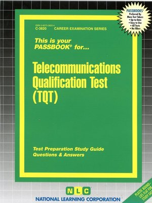 cover image of Telecommunications Qualification Test (TQT)