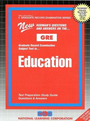 cover image of GRE Education