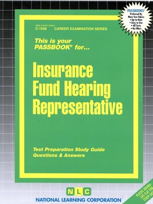 cover image of Insurance Fund Hearing Representative