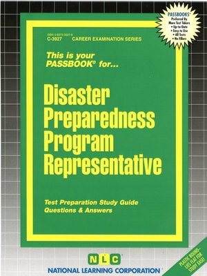 cover image of Disaster Preparedness Program Representative