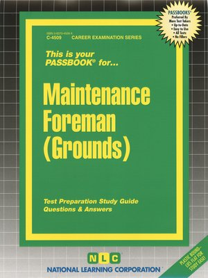 cover image of Maintenance Foreman (Grounds)
