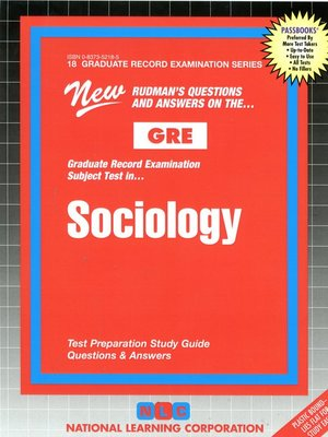 cover image of GRE Sociology