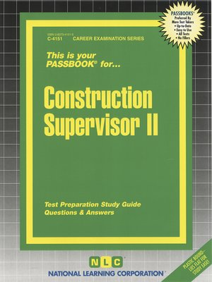 cover image of Construction Supervisor II