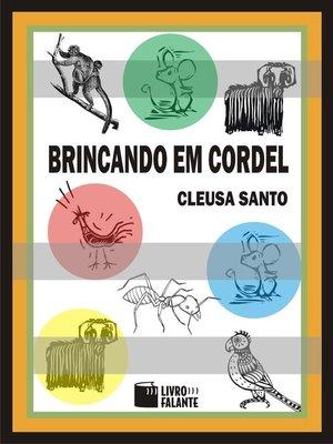 cover image of Brincando em cordel