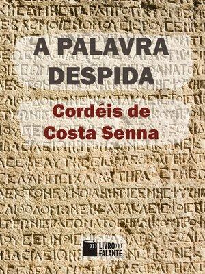 cover image of A palavra despida