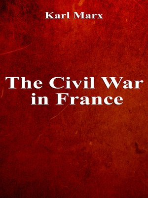 cover image of The Civil War in France