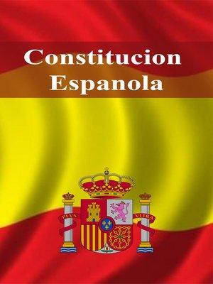 cover image of Constitucion Espanola