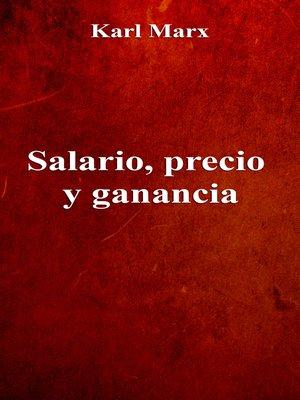 cover image of Salario, precio y ganancia