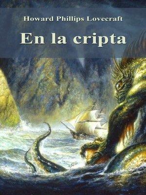 cover image of En la cripta