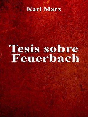 cover image of Tesis sobre Feuerbach