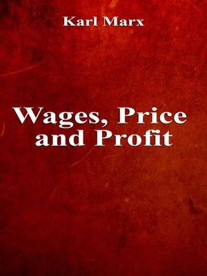 cover image of Wages, Price and Profit