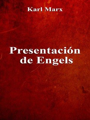 cover image of Presentación de Engels