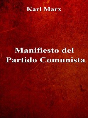 cover image of Manifiesto del Partido Comunista