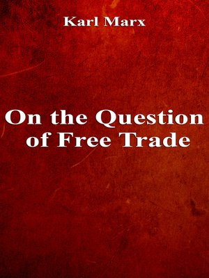 cover image of On the Question of Free Trade