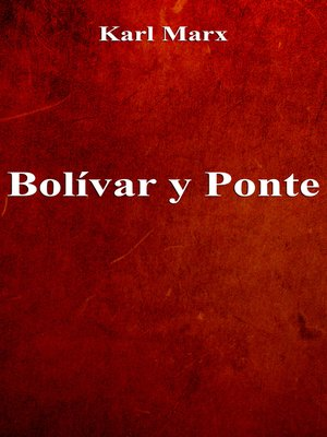 cover image of Bolívar y Ponte