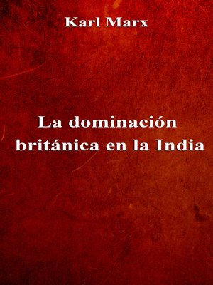 cover image of La dominación británica en la India