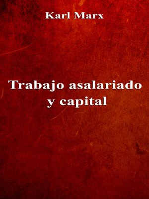 cover image of Trabajo asalariado y capital