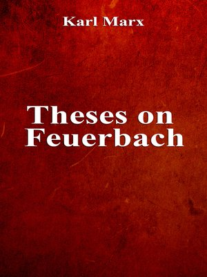 cover image of Theses on Feuerbach