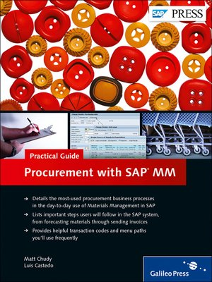 Procurement with SAP MM—Practical Guide by Matt Chudy