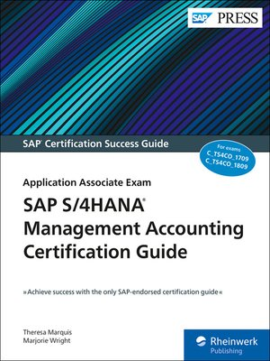 cover image of SAP S/4HANA Management Accounting Certification Guide