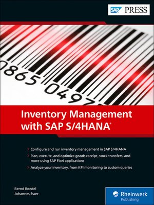 cover image of Inventory Management with SAP S/4HANA