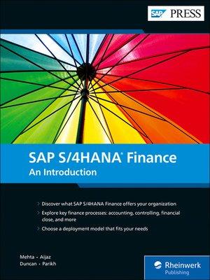 cover image of SAP S/4HANA Finance