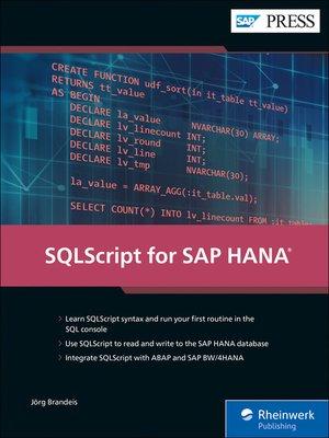 cover image of SQLScript for SAP HANA