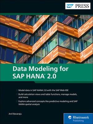 cover image of Data Modeling for SAP HANA 2.0