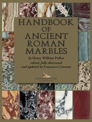 cover image of Handbook of ancient Roman marbles