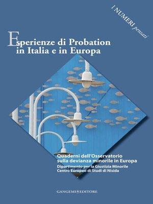 cover image of Esperienze di Probation in Italia e in Europa