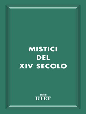 cover image of Mistici del XIV secolo