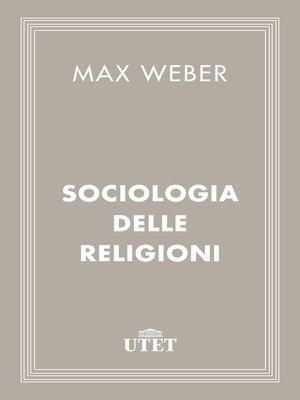 cover image of Sociologia delle religioni