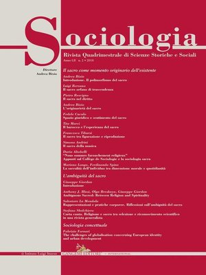 cover image of Sociologia n.2/2018