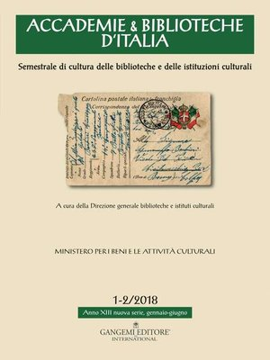 cover image of Accademie & Biblioteche 1-2/2018