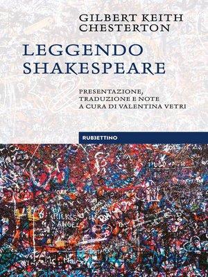 cover image of Leggendo Shakespeare