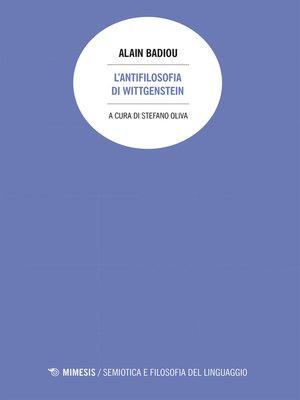 cover image of L'antifilosofia di Wittgenstein