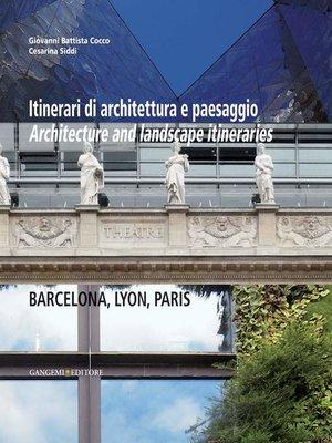 cover image of Itinerari di architettura e paesaggio