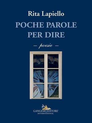 cover image of Poche parole per dire