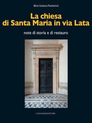 cover image of La chiesa di Santa Maria in via Lata
