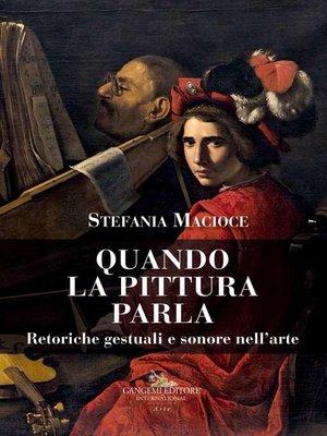 cover image of Quando la pittura parla