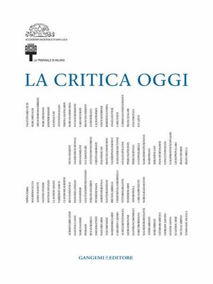 cover image of La Critica oggi
