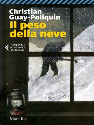 cover image of Il peso della neve
