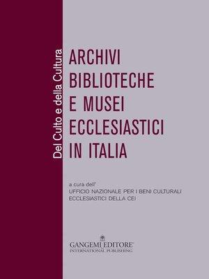 cover image of Del Culto e della Cultura