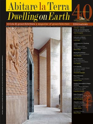 cover image of Abitare la Terra n.40/2016 – Dwelling on Earth