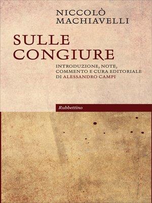 cover image of Sulle congiure