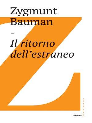 cover image of Il ritorno all'estraneo